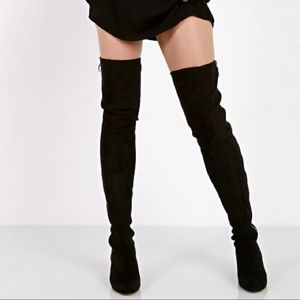 DOLCE VITA Jimmy Over the Knee BOOTS Black